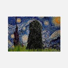 Starry Night / Puli Rectangle Magnet