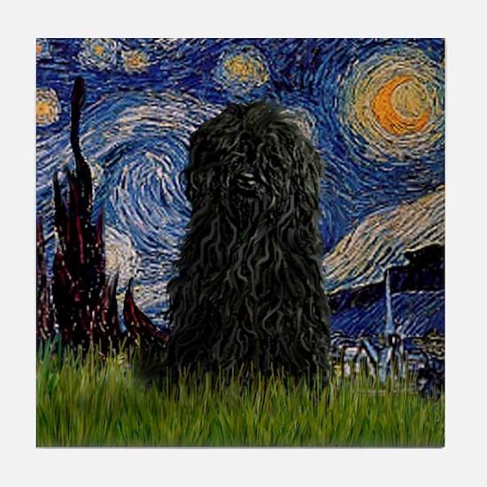 Starry Night / Puli Tile Coaster