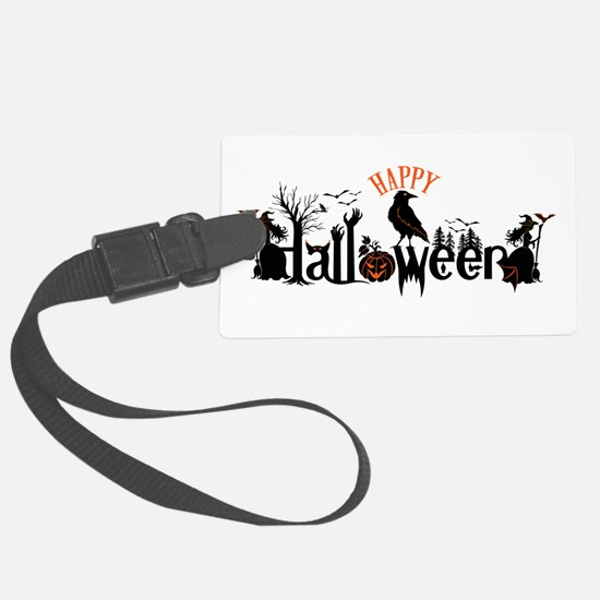 Happy halloween Black & orange S Luggage Tag