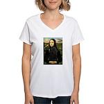 Mona Lisa /Puli Women's V-Neck T-Shirt