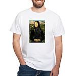 Mona Lisa /Puli White T-Shirt