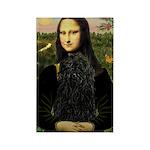 Mona Lisa /Puli Rectangle Magnet