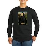 Mona Lisa /Puli Long Sleeve Dark T-Shirt
