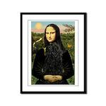 Mona Lisa /Puli Framed Panel Print