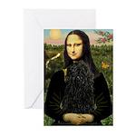Mona Lisa /Puli Greeting Cards (Pk of 10)