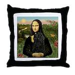 Mona Lisa /Puli Throw Pillow