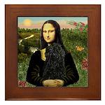 Mona Lisa /Puli Framed Tile