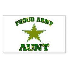 Proud army aunt Rectangle Decal