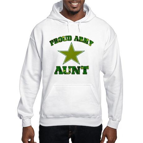 Proud army aunt Hooded Sweatshirt