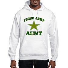 Proud army aunt Hoodie Sweatshirt