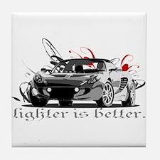 "Elise ""Lighter is better."" Tile Coaster"