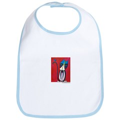 Marcy Hall's Tuxedo Cat & Bird Bib