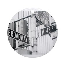 NY Broadway Times Square - Ornament (Round)