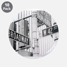 "NY Broadway Times Square - 3.5"" Button (10 pack)"