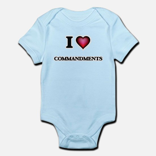 I love Commandments Body Suit