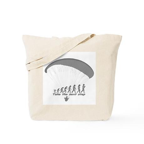 """Paragliding Next Step"" Tote Bag"