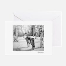 Timber Wolf ~ Greeting Card BLANK
