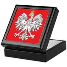 square polish eagle Keepsake Box