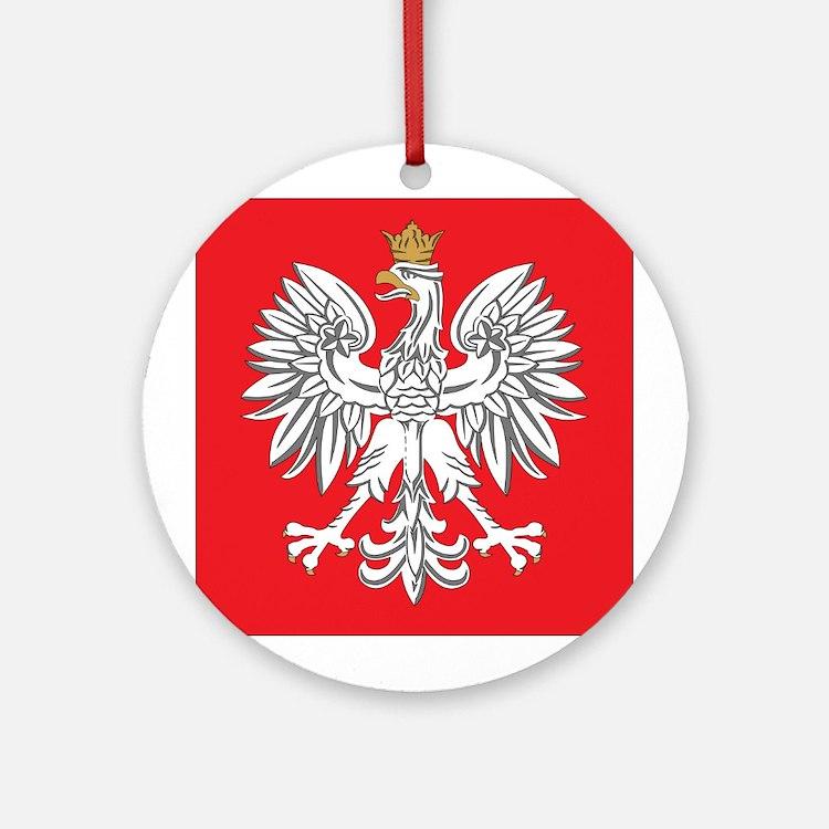 square polish eagle Ornament (Round)