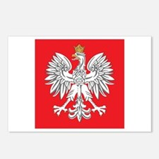 square polish eagle Postcards (Package of 8)