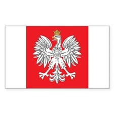 square polish eagle Rectangle Decal