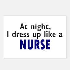 Dress Up Like A Nurse (Night) Postcards (Package o