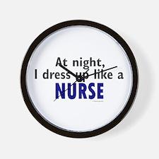 Dress Up Like A Nurse (Night) Wall Clock