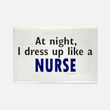 Dress Up Like A Nurse (Night) Rectangle Magnet