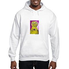 Marcy Hall's Buddha Cat Hooded Sweatshirt