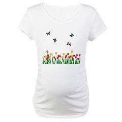 Tulip Flowers and Butterflies Shirt