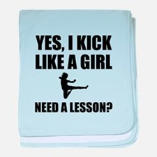 Like A Girl Martial Arts baby blanket