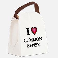 I love Common Sense Canvas Lunch Bag