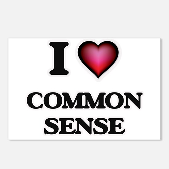 I love Common Sense Postcards (Package of 8)