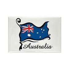 Funky Australian Flag Rectangle Magnet