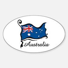 Funky Australian Flag Oval Decal