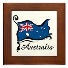 Funky Australian Flag Framed Tile