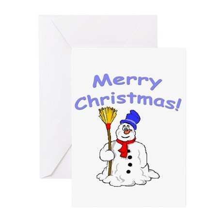Snowman Snowmen Christmas Greeting Cards (20 Pack)