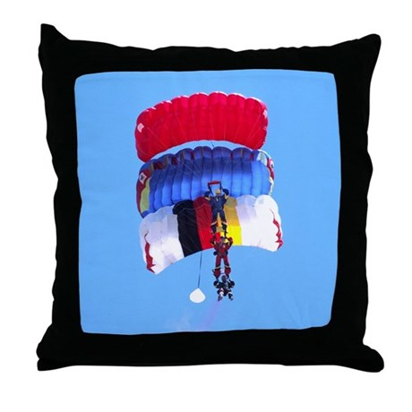 Stack of Three Throw Pillow
