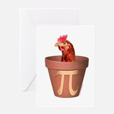 Chicken Pot Pi Greeting Cards