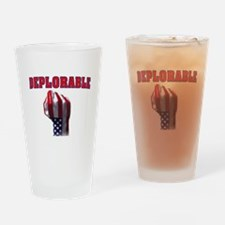 DEPLORABLE Drinking Glass