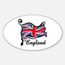 Funky British Flag Oval Decal