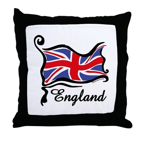 Funky British Flag Throw Pillow
