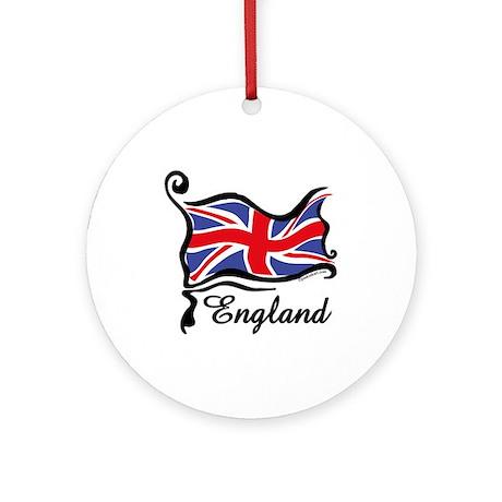Funky British Flag Ornament (Round)