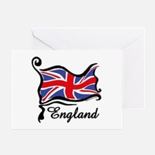 Funky British Flag Greeting Card