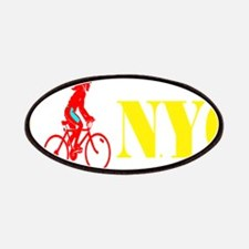 I Bike NYC RED transp.png Patch