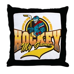 Hockey My Game Throw Pillow