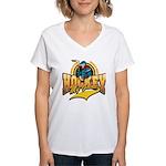 Hockey My Game Women's V-Neck T-Shirt