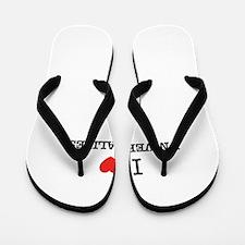 I Love UNIVERSALIZES Flip Flops