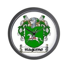 Maguire Coat of Arms Wall Clock