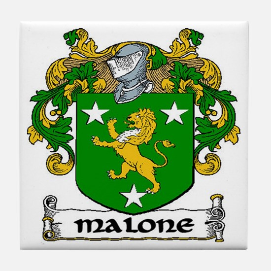 Malone Coat of Arms Ceramic Tile